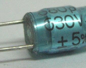 Capacitor 680pF 5% 630V, polypropylene