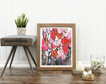 Instant Download Print of Orginal Handmade Mixed Media Artwork for home or interior decorating