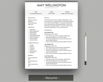 resume cover letter professional resume template for word cover letter template customer - Executive Resume Design
