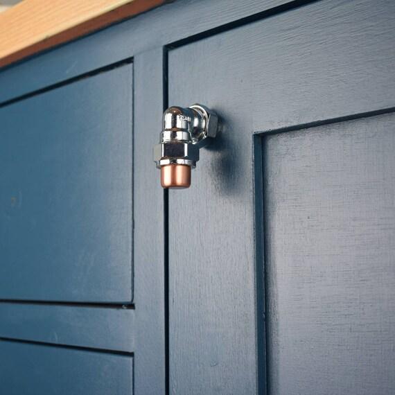 Chrome and Copper Finger Knob/Pull Drawer Knob Cabinet Knob