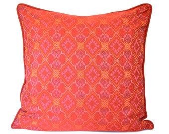26 x 26 Red Ikat Cushion Cover