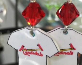 St. Louis Cardinal Jersey Earrings