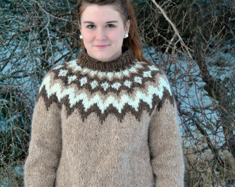 Baldur Icelandic Sweater - Handmade with 100% Pure Icelandic Wool