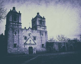 Haunted ~ Mission Concepcion Fine Art Photography Print ~ Gothic Decor ~ Dark Photography Print