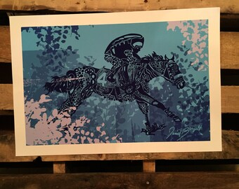 American Pharoah Prints 11x17 (279.5mm x 431.8mm) print on 13in x 19in paper. Free Domestic Shipping!