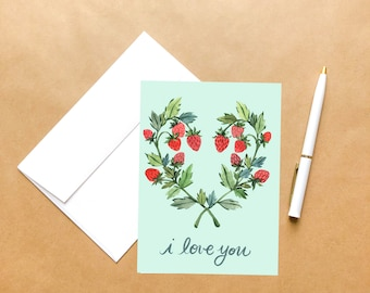 Love You Berry Much | Love Greeting Card