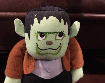 "Cute little stuffed ornament Russ Frankenstein ornament halloween  Halloween Ornament  4"" Stuffed Vtg"