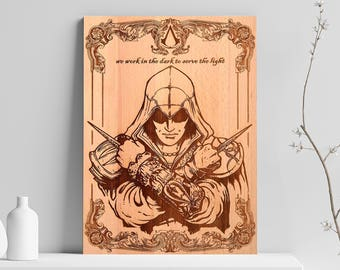 Assassins Creed Wooden Poster