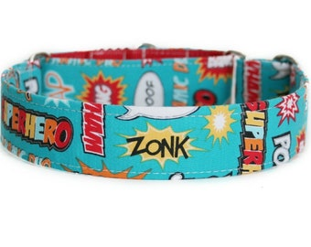 Comics Dog Collar / Custom Dog Collar / Martingale