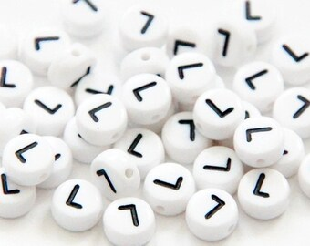 "50 St. Letter Beads ""L"""