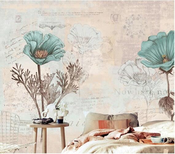 Bedroom Wallpaper Free Download Vintage Bedrooms For Girls Bedroom Athletics Ebay Zapped Zoeys Bedroom: Items Similar To Vintage Garden Wallpaper Bedroom Living