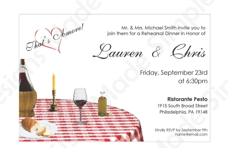 Italian Rehearsal Dinner Invitation Printable