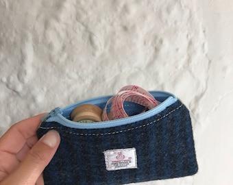 Harris Tweed Coin Purse, Tweed Zip Purse, Tweed Purse, Accessories Case