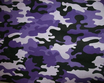 Camouflage Fabric sold per half yard 100% cotton Ideal for Designers Clothing, Home Decor, Camouflage outfit