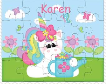 Unicorn Personalized Puzzle, Personalized Unicorn Puzzle, Personalized Kids Puzzle