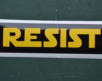Resist Bumper Sticker Star Wars