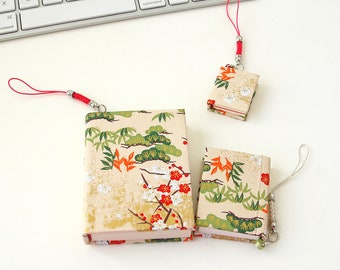 IDOLBOOK Handmade Mini Book with beautiful pattern, Thread stitching, Wintersweet