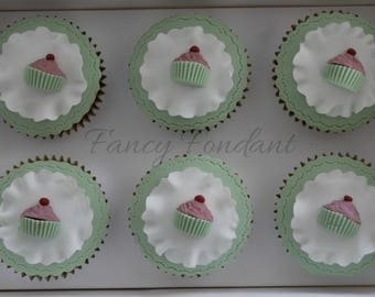 Edible Fondant Cupcake Decorations Toppers