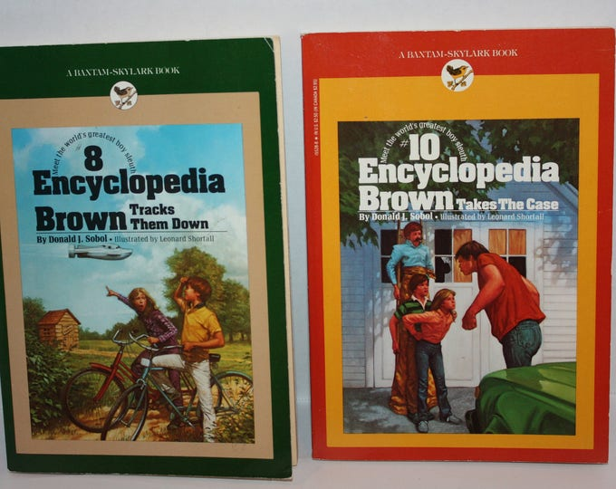 Lot of 2 Encyclopedia Brown Books by Donald J. Sobol 1970's Paperback Book