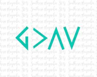 God is Greater than the Ups and Downs - Religious - God is Good - God is Greater  - Silhouette - Cricut - Cut File - SVG Design