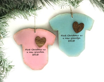 Personalized First Christmas As Grandparents Ornament, Grandma and Grandpa Ornament, Grandparent Gift, Godparents, Papa and Nana