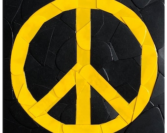 Peace Guitar Picks on Canvas