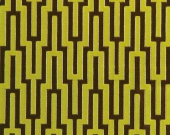 SCHUMACHER METROPOLITAN VELVET Geometric Fabric 5 Yards Bamboo Shoot