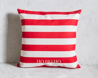 Christmas Pillow Cover, Striped Pillow Cover, Pillow Covers, Throw Pillow, Christmas Throw Pillow, Decorative Pillow Cover