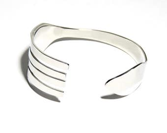 Fork Bracelet, Stainless Steel, Women, Men, Mirror Finish, BLB 13,