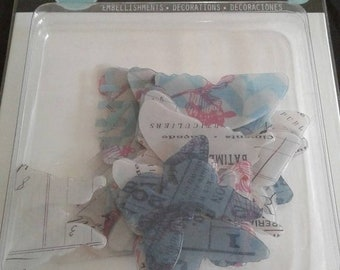 20% Off Flash Sale Heidi Swapp -  Butterfly Embellishments - 22 PC - Printed Heavy Plastic Acrylic Butterflies - HS01092