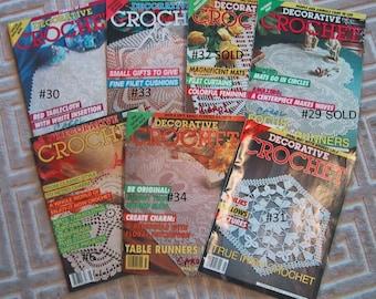Decorative Crochet Magazine - 6 Choices - Vintage 1990's Collectible - Thread Crochet Patterns - Doilies - Tablecloths - Bedspreads - Motifs