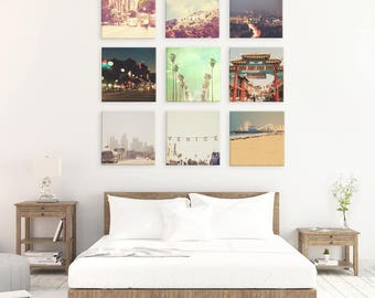 Los Angeles print set, LA photograph collection, I Love L.A., California decor, discounted set, Hollywood art, sale, 50% off, LA wall decor
