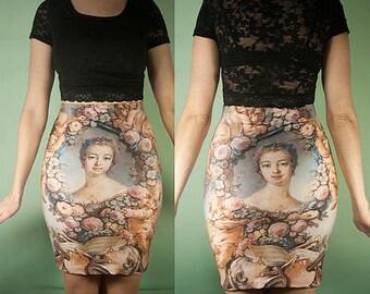 30%SALE (1 left) Rococo skirt small