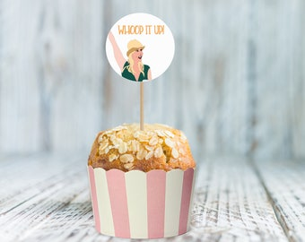 Whoop It Up! cupcake topper, Printable Instant Download, Digital, Party Decoration, sticker