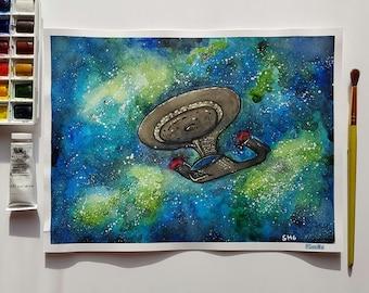 Star Trek Enterprise-D Next Generation Art Print