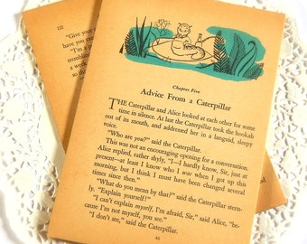 Vintage Alice In Wonderland Book Pages. Vintage Books. Vintage Ephemera. Junk Journal Supply. Scrapbooking. Ephemera Paper. Old Book Pages.