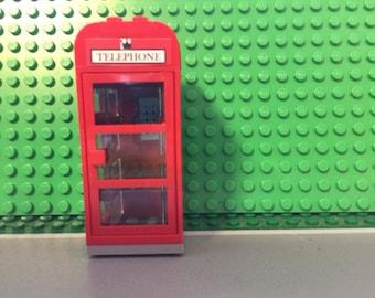 Custom Lego red phone booth English style - Modular, city, train