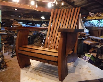 Reclaimed Redwood Adirondack Chair