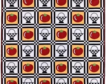 Tomato Baskets Quilt Pattern -Applique, Patchwork - PDF