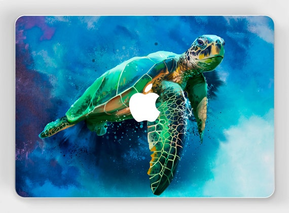 Macbook skin ocean mac vinyl decal turtle print macbook pro 15