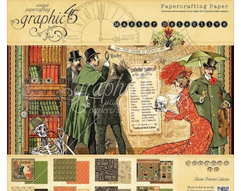 MASTER DETECTIVE by Graphic 45  8x8 - VICTORIAN style  MYSTeRIOUS HALLOWeEN design - In Stock Now !