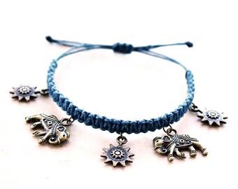 Radiant Elephants Bracelet - Hemp Bracelet - Hemp Jewelry