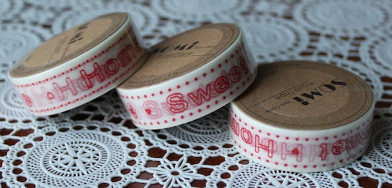 Scrapbook Supplies- 1 roll. Washi Tape. Home Sweet Home - Little Laser Lab