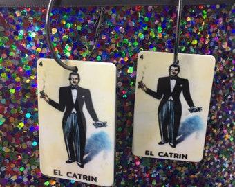 Loteria Earrings, Oversized Earrings, El Catrin Earrings, La Rosa Earrings, Summer Earrings, Loteria Jewelry