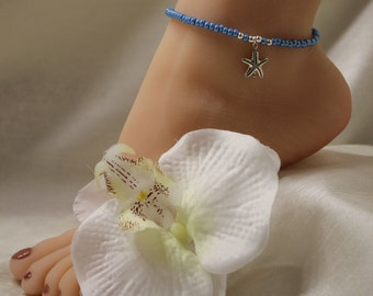 Turquoise Anklet Starfish Beach Jewelry Bridal Anklet Wedding Anklet Beach Wedding Jewelry Ankle Bracelet