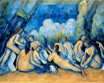 "Laminated placemat Cézanne ""The large bathers"""