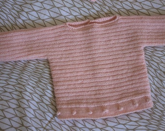 Patrón suéter bolitas 3 meses en español