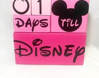 Disney Countdown Block Set - Minnie Mouse Edition