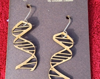 Laser-cut DNA Earrings