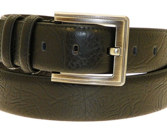 Mens Genuine Black Leather Belt In Gift Box (N3108)